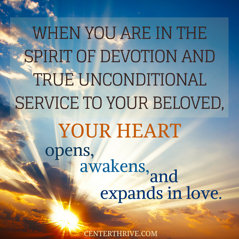 Allow your heart to expand in loving service to your beloved! #Relationships