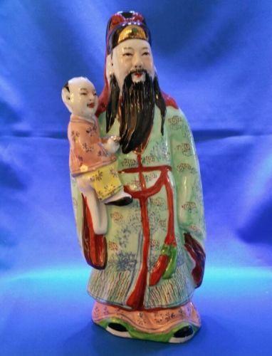 Antique/Vintage Chinese Figure Statue Star God Asian Famille Porcelain Figurine  in Antiques, Asian Antiques, China, Statues, Men, Women & Children   eBay