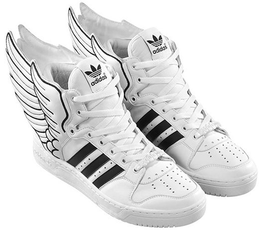 brand new 2d8d8 bf7f1 Adidas s new leather shoes Wings 2.0 designed by Jeremy Scott