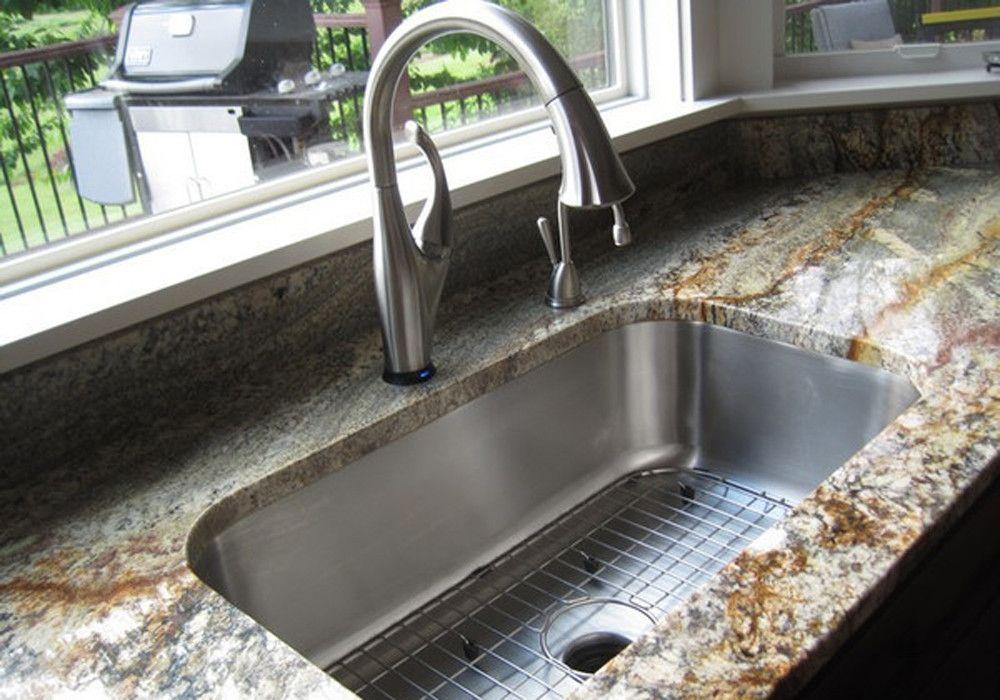 Gentle Radius 30 Single Bowl Sstrsn With Images Undermount Kitchen Sinks Stainless Steel Kitchen Sink Undermount Kitchen Sink