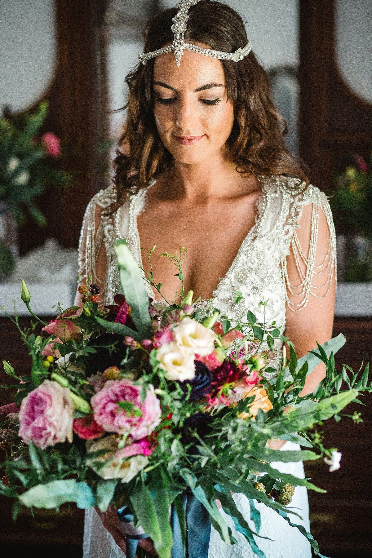 Anna campbell glamour for a free spirited and colourful wedding