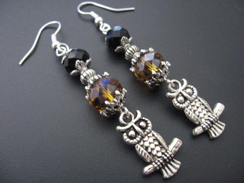 Owl Earrings, jewelryrow