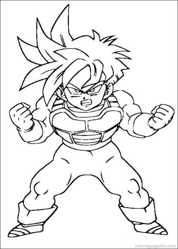 cool dragon ball z coloring pages | Dragon Ball Z Coloring Pages 49 | Places to Visit ...