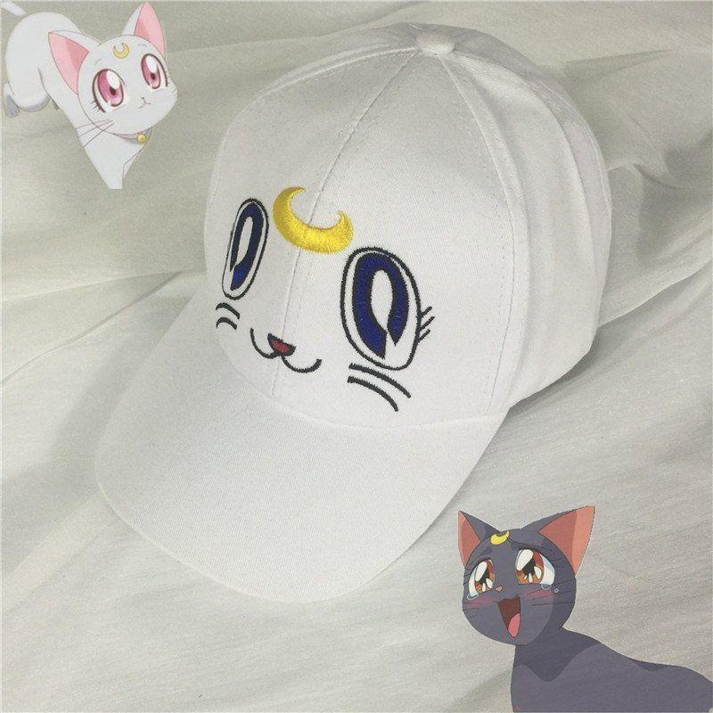Kawaii moon cat baseball cap use coupon code