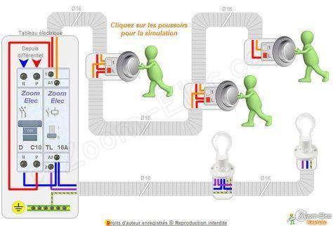 Branchement telerupteur Electricity Pinterest - couleur fil electrique phase