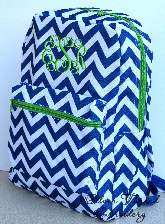 7c2a4496846f Children Chevron Backpack Personalized Monogrammed School Girl Boy ...