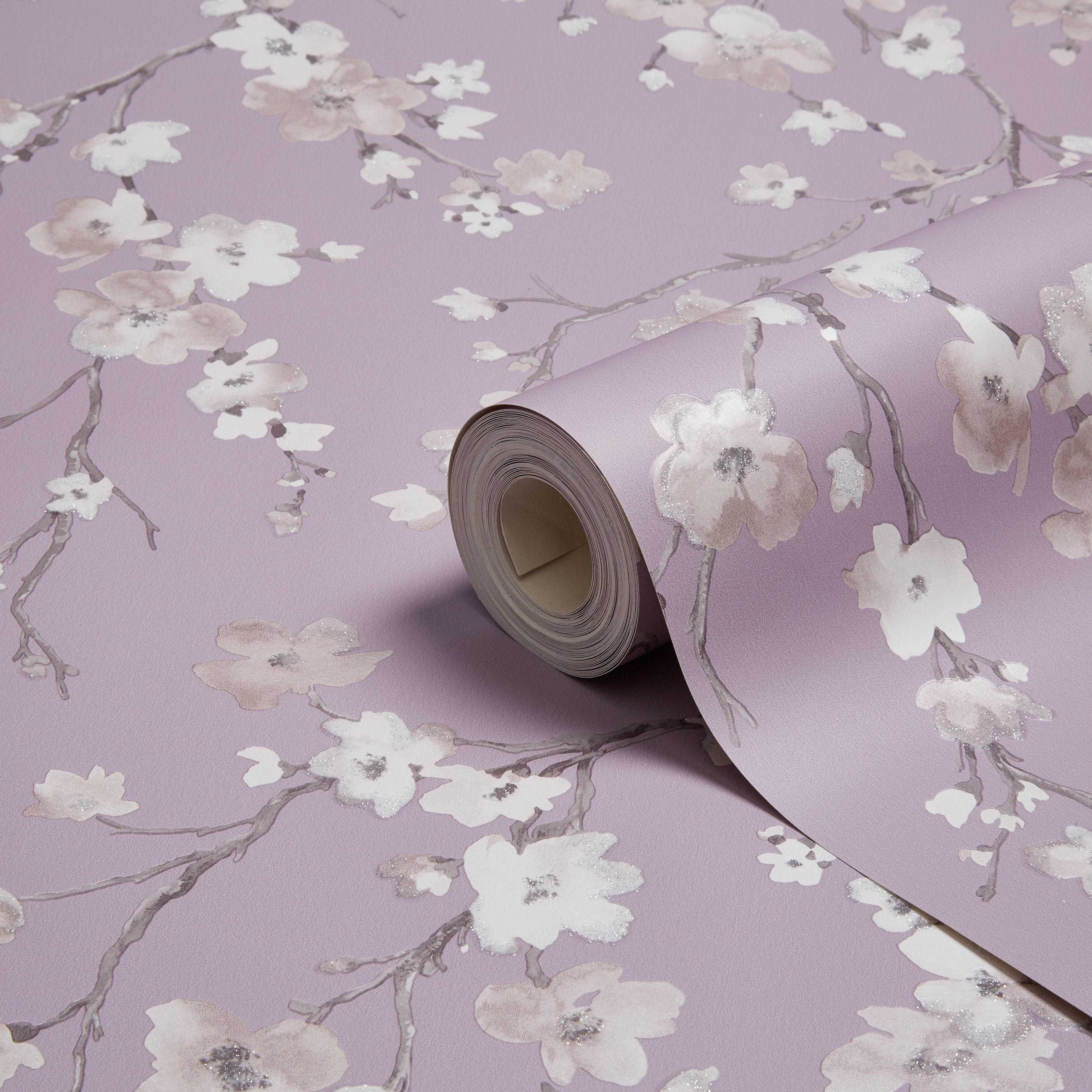 Diy supplies accessories diy at b q - Arthouse Sophie Conran Blossom Wisteria Floral Glitter Wallpaper B Q For All Your Home And Garden Supplies And Advice On All The Latest Diy Trends