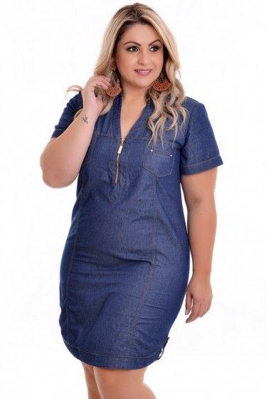 e4182a15c3c Vestido Plus Size Chemise Elegance
