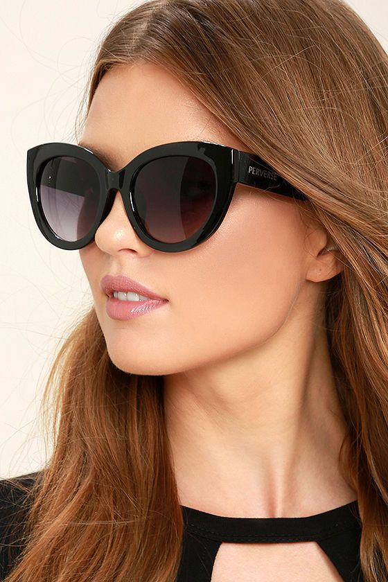 be3559027ec With the Perverse Dahlia Black Cat-Eye Sunglasses you can channel that  easygoing west coast vibe