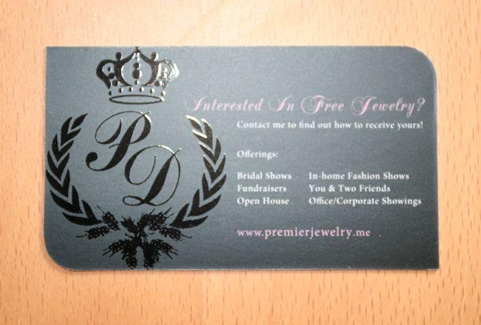 Business Card Idea Premier Jewelry Premier Designs