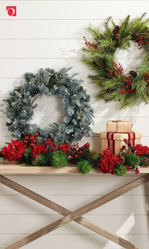 Make the season even brighter with gorgeous Christmas Wreaths from Overstock, where quality home goods always cost less and you'll get Free Shipping on EVERYTHING!* Don't let the most joyous season pass you by without giving your home a festive refresh with gorgeous holiday home decor from Overstock, and nothing says Merry Christmas like a stylish wreath for your door or window. #wreath #Christmaswreath #holidayhome #overstock