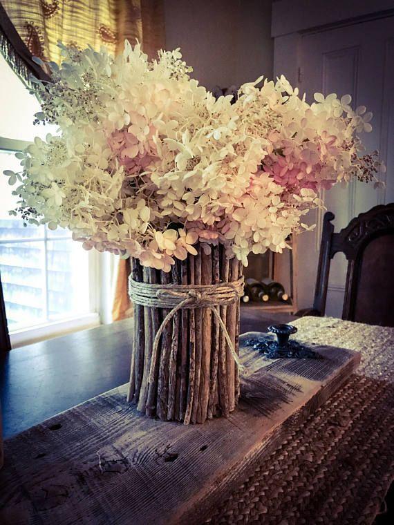 Vases Stick Flowers Vase Kitchen Decor Rustic Home Centerpiece