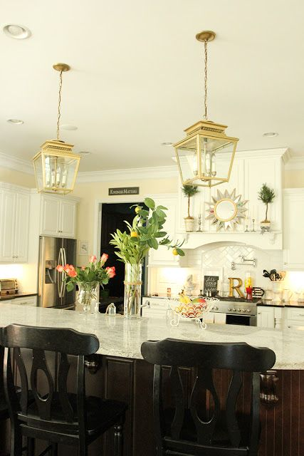 Ballard Designsu0027 Piedmont Lanterns   In Gold! Kitchen PantryKitchen LivingKitchen  IdeasIsland ...