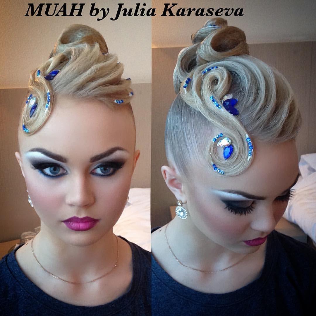 Dana Makarova Hairdresser Hair Updo Hairstylist Hairstyle Blondehair Dancesport Ballroom Julie Dance Hairstyles Dancesport Hair Competition Hair