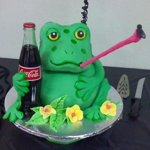 Coca Cola and Frog Cake
