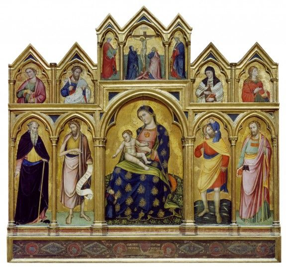 A1242   Madonna, Child, Crucifixion and Saints   ca. 1380-1389   Painting   Tempera and gold on panel 176.5 x 185.9 cm   The Walters Art Museum   Baltimore, USA   Inv. nr. 37.635