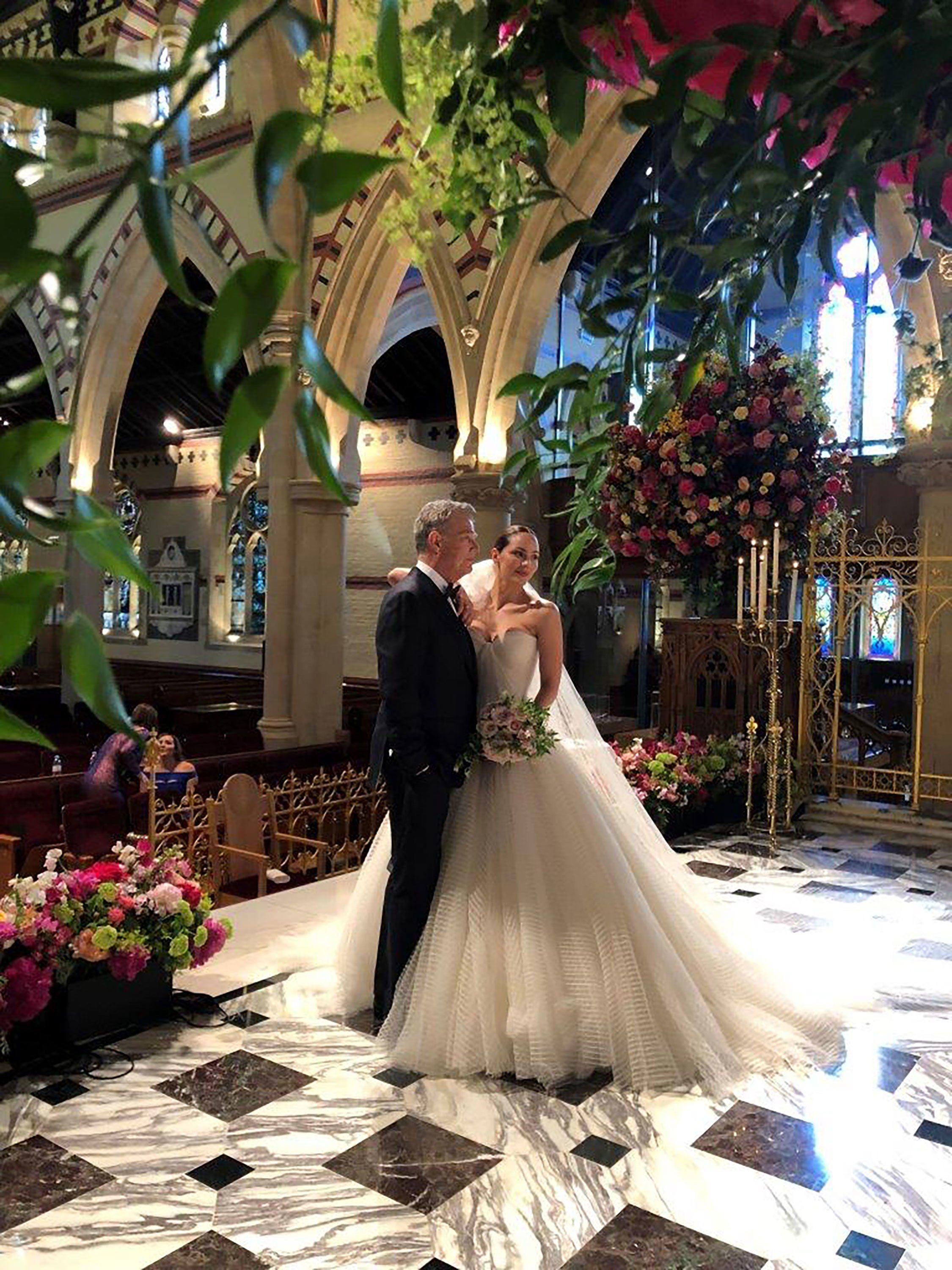 An Exclusive Look Inside Katharine Mcphee And David Foster S Wedding In London Zac Posen Wedding Gowns Zac Posen Wedding Dress Wedding Dresses