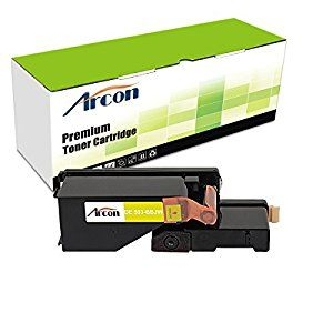 Arcon 1pk Yellow 1 400 Pages Compatible Toner Cartridge Replacement For Dell 593 Bbjw 525 E525 E525w Used For Printers De Printer Toner Toner Cartridge Toner