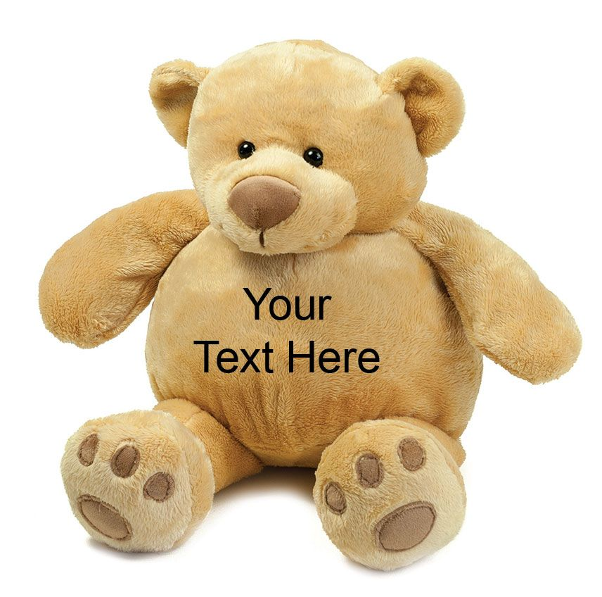 Personalised Teddy Bear Mumbles Soft Plush Zippie Bear