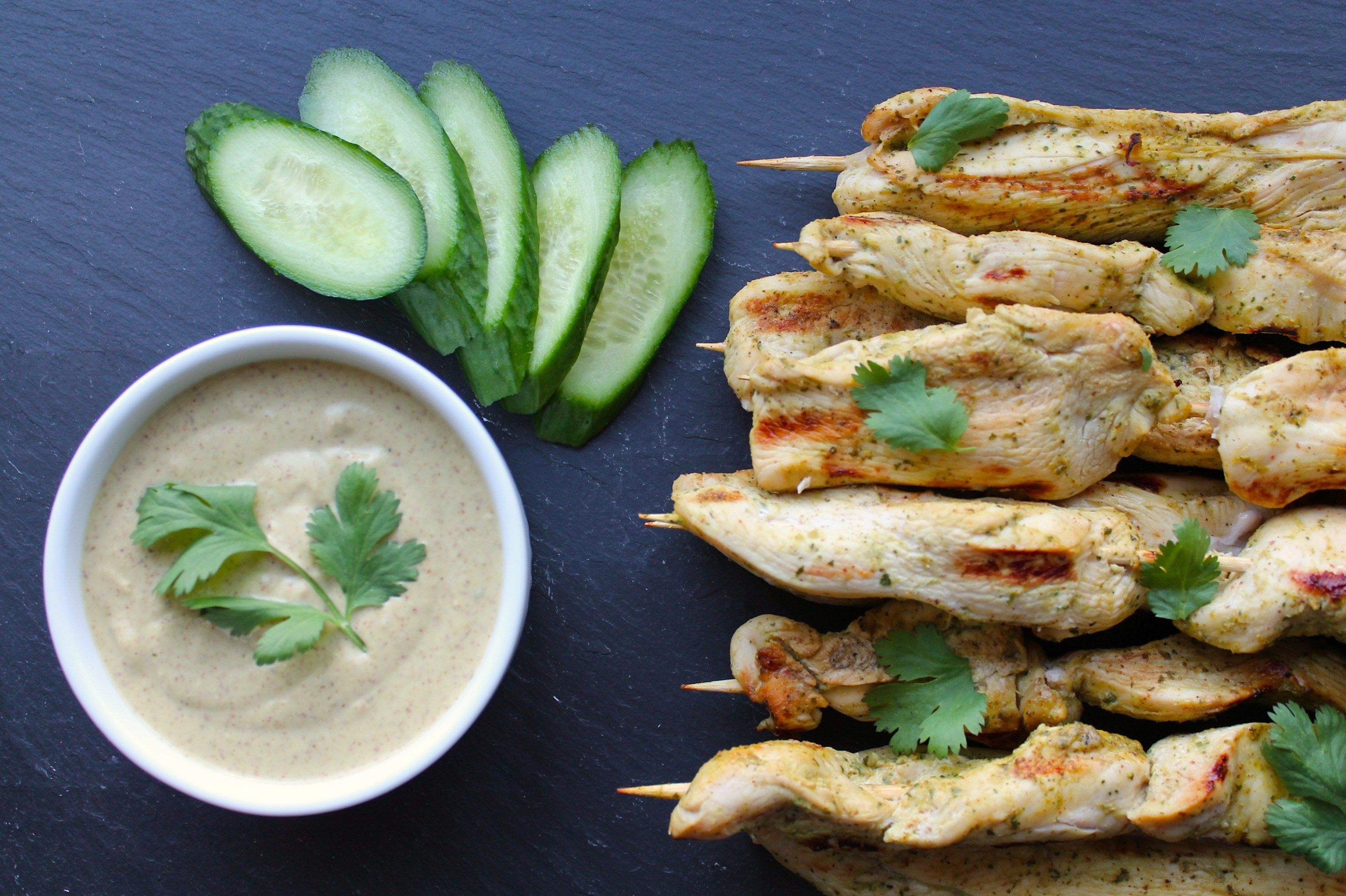 how to make thai satay chicken skewers