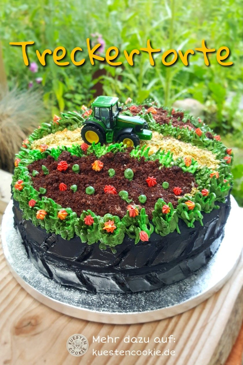 Treckertorte In 2020 Bauernhoftorte Snack Rezepte Traktor Torte