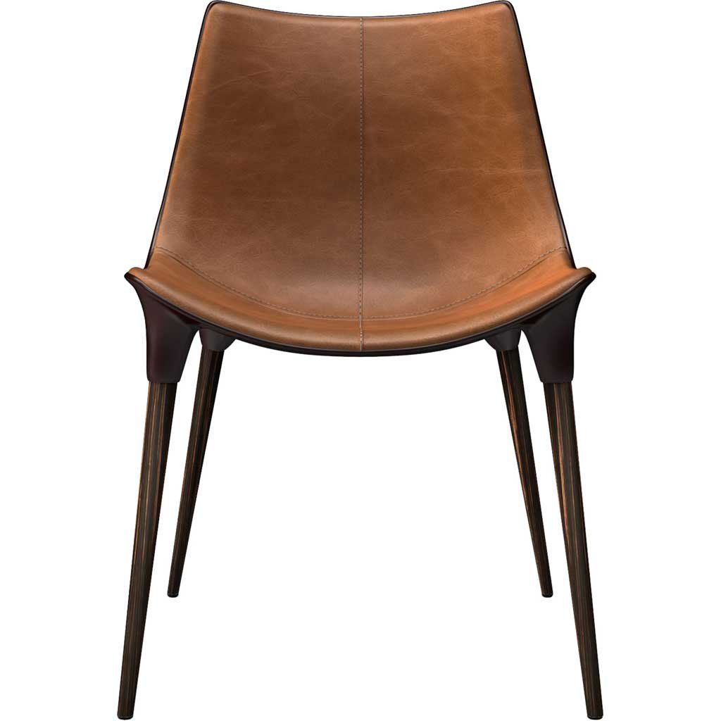 Langham Dining Chair Leather Caramel | Products | Fabric ...