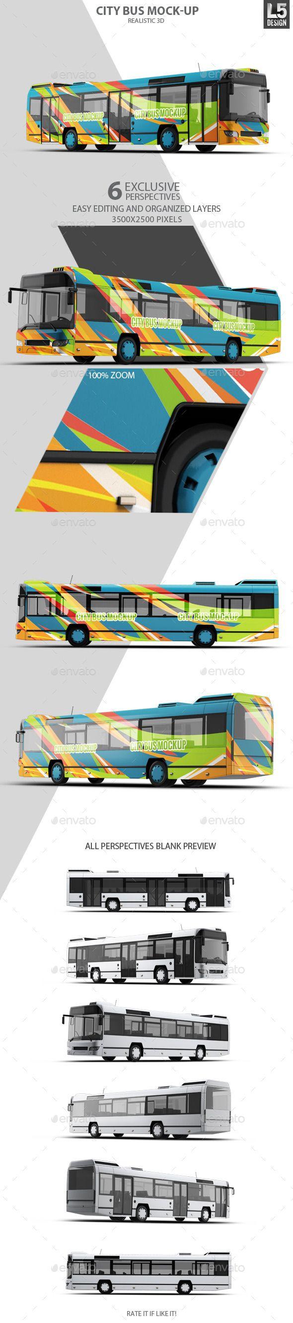 City Bus Mock Up Bus Wrap Bus Mockup