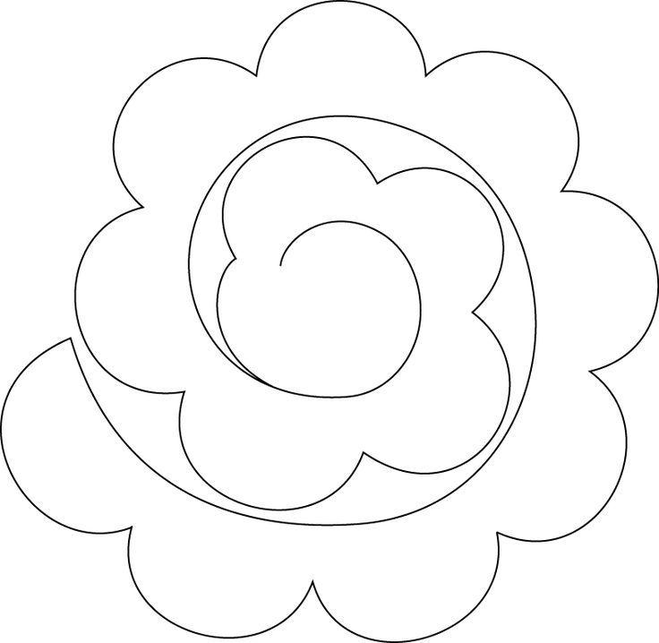 Resultado de imagen de plantilla de corte de flores de fieltro en ...