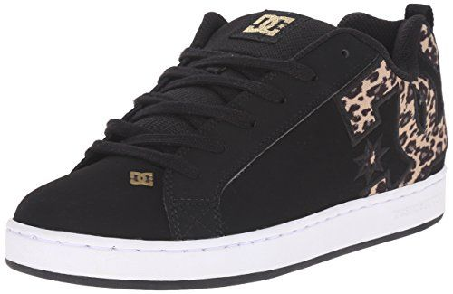 DC Womens Court Graffik SE Skate Shoe BlackTan 5 M US *** Click image for more details.