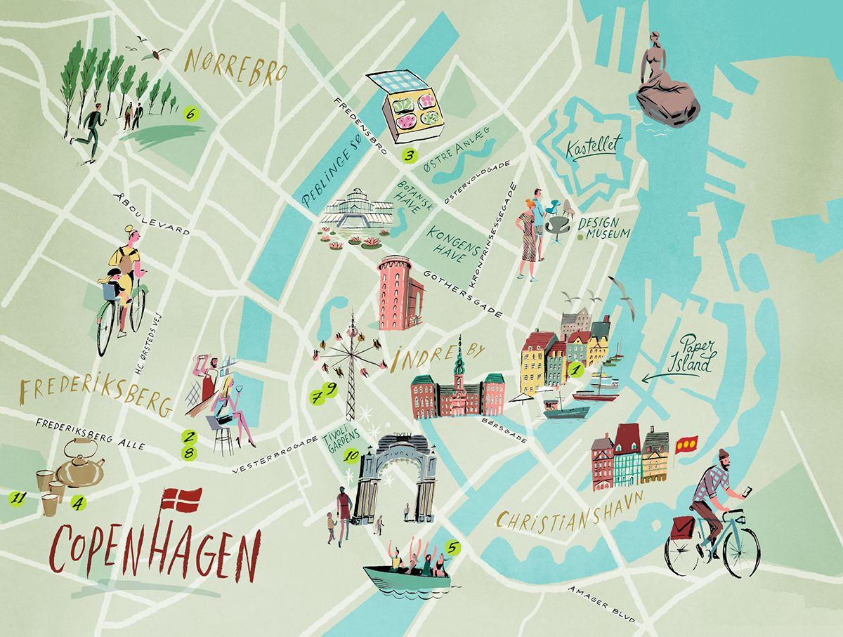 Nik Neves Copenhagen map Lonely Planet Mag UK Minhas viagens