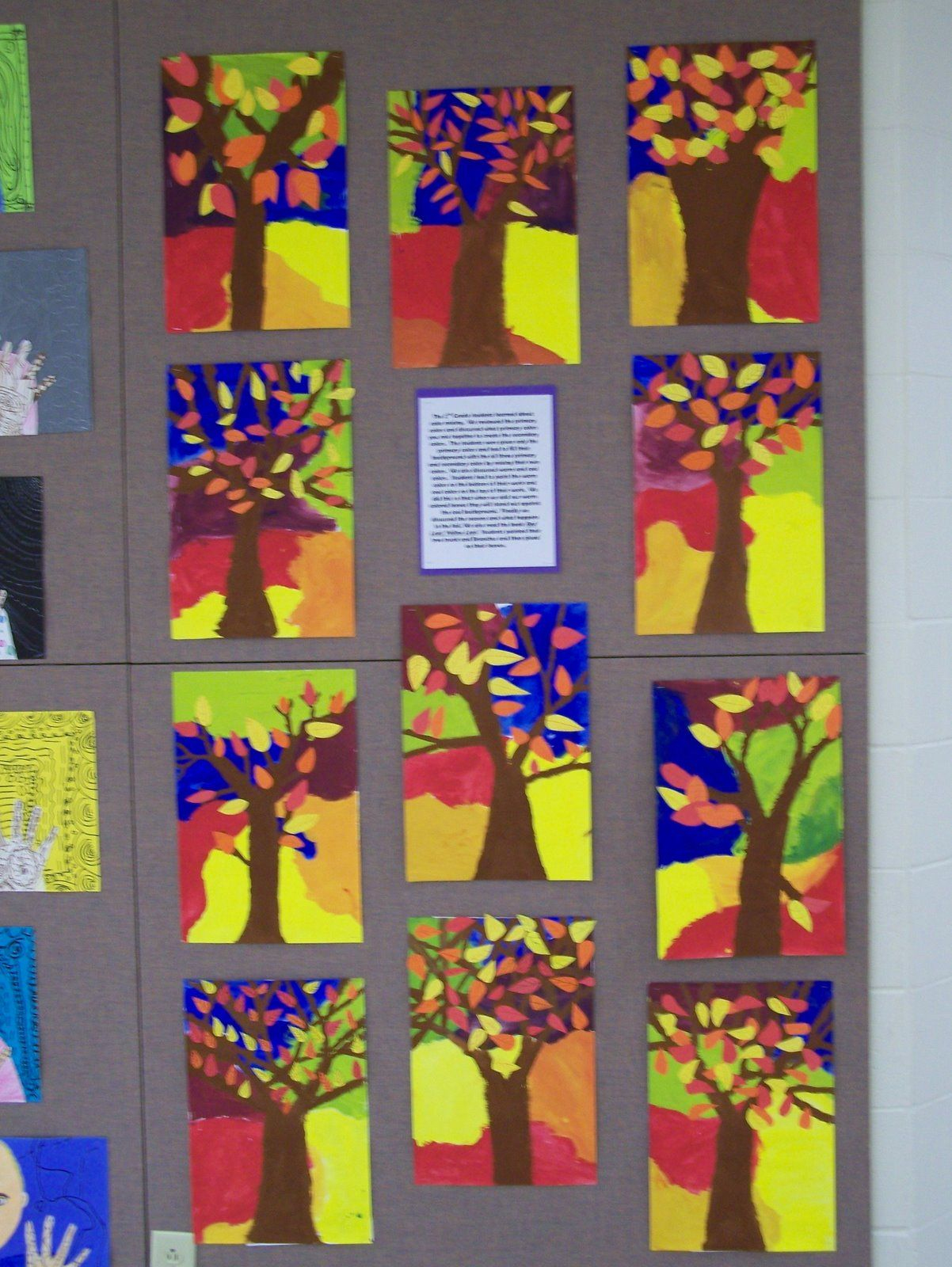 What S Happening In The Art Room 2nd Grade Fall Trees