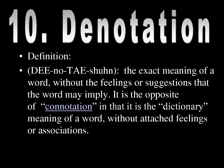 Denotation Examples