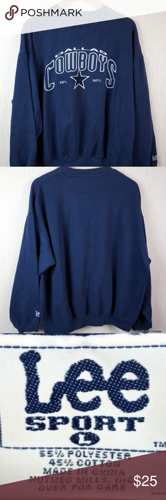 VTG 90s Dallas Cowboys Embroidered NFL Sweatshirt