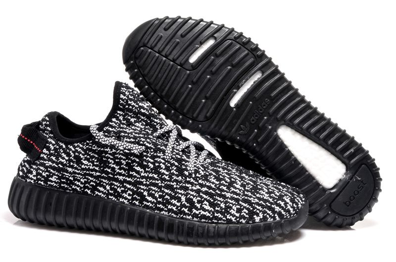 65c83a9908e Adidas 350 Kanye West Yeezy Men Woman Running Shoes black white sole ...