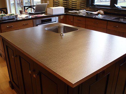 Stainless Steel Portfolio Brooks Custom Mount Kisco Ny Kitchen Island Countertop Stainless Steel Countertops Island Countertops