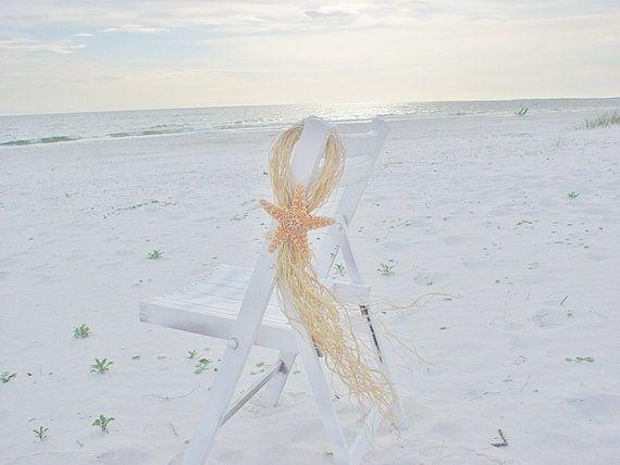 Beach Wedding Chair Decorations Starfish Swags Sugar Seaside Decor Tropical