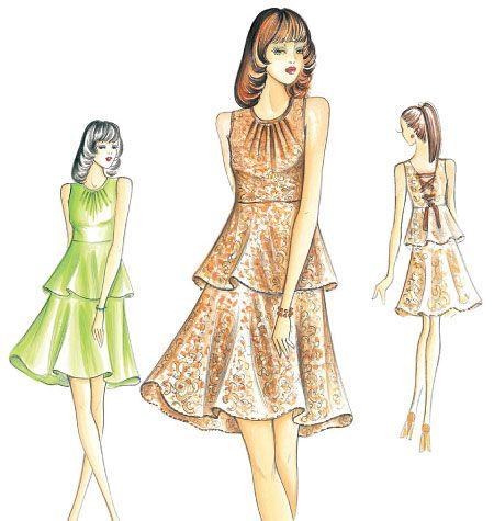 F3162, Marfy Dress | Vintage Patterns in 2018 | Pinterest | Dresses ...