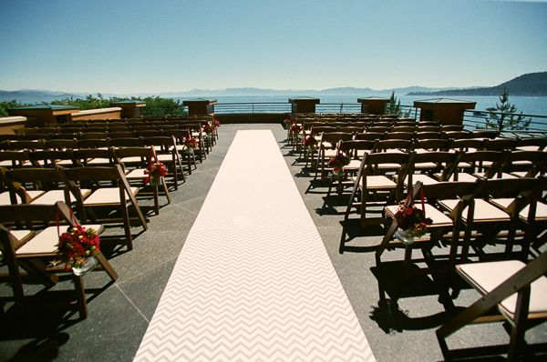 Contemporary Lake Tahoe wedding ceremony from One Fine Day Events and Bret Cole Photography