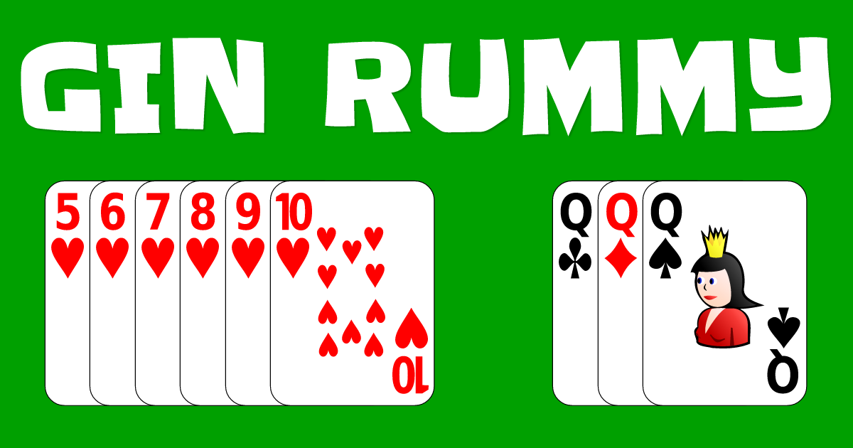 Play the classic card game Gin Rummy online for free