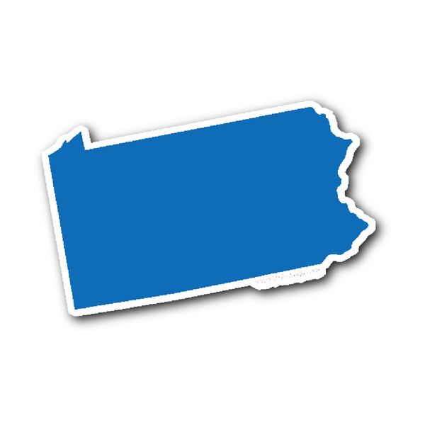 Pennsylvania State Shape Sticker Outline WHITE | State shapes, Medication  for dogs, States