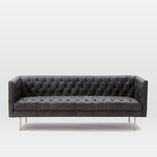 Pleasant Modern Chesterfield Leather Sofa 79 In 2019 Living Room Uwap Interior Chair Design Uwaporg