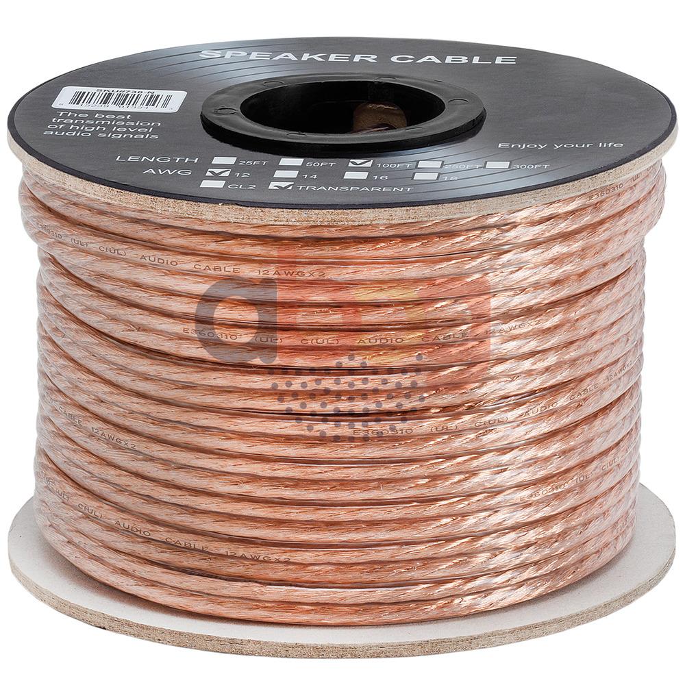 US-Deals Audio 100 FT Feet True 12 GA Gauge AWG Speaker Wire ... on
