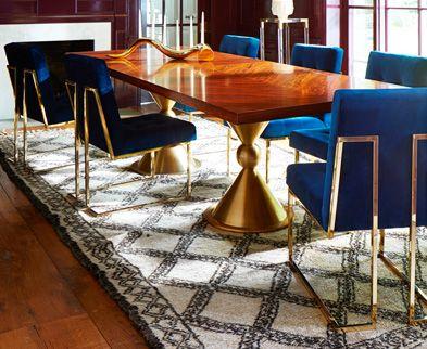 Mid Century Modern Dining Table, made by Designer Jonathan Adler.