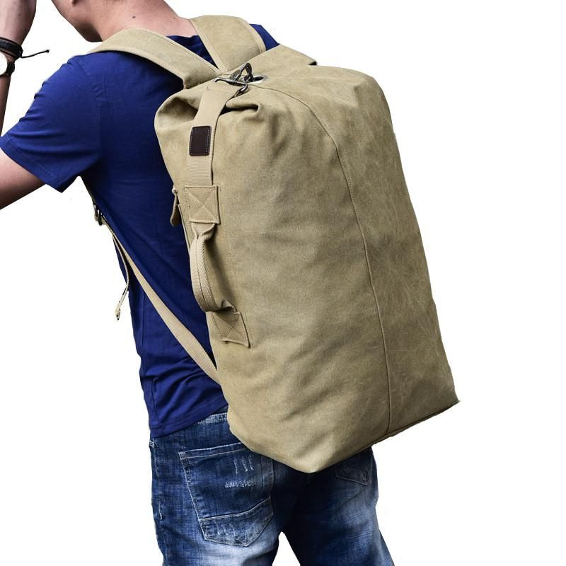 6a7b59640558 Men s Outdoor Tactical Military Duffle Bag Army Canvas Climbing Camping  Hinking Backpack Mountain Sport Bag Travel Rucksack. Yesterday s price  US   19.71 ...