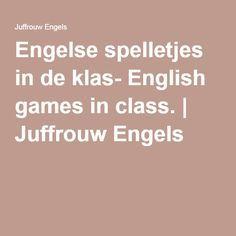 Betere Engelse spelletjes in de klas- English games in class.   Engel XL-36