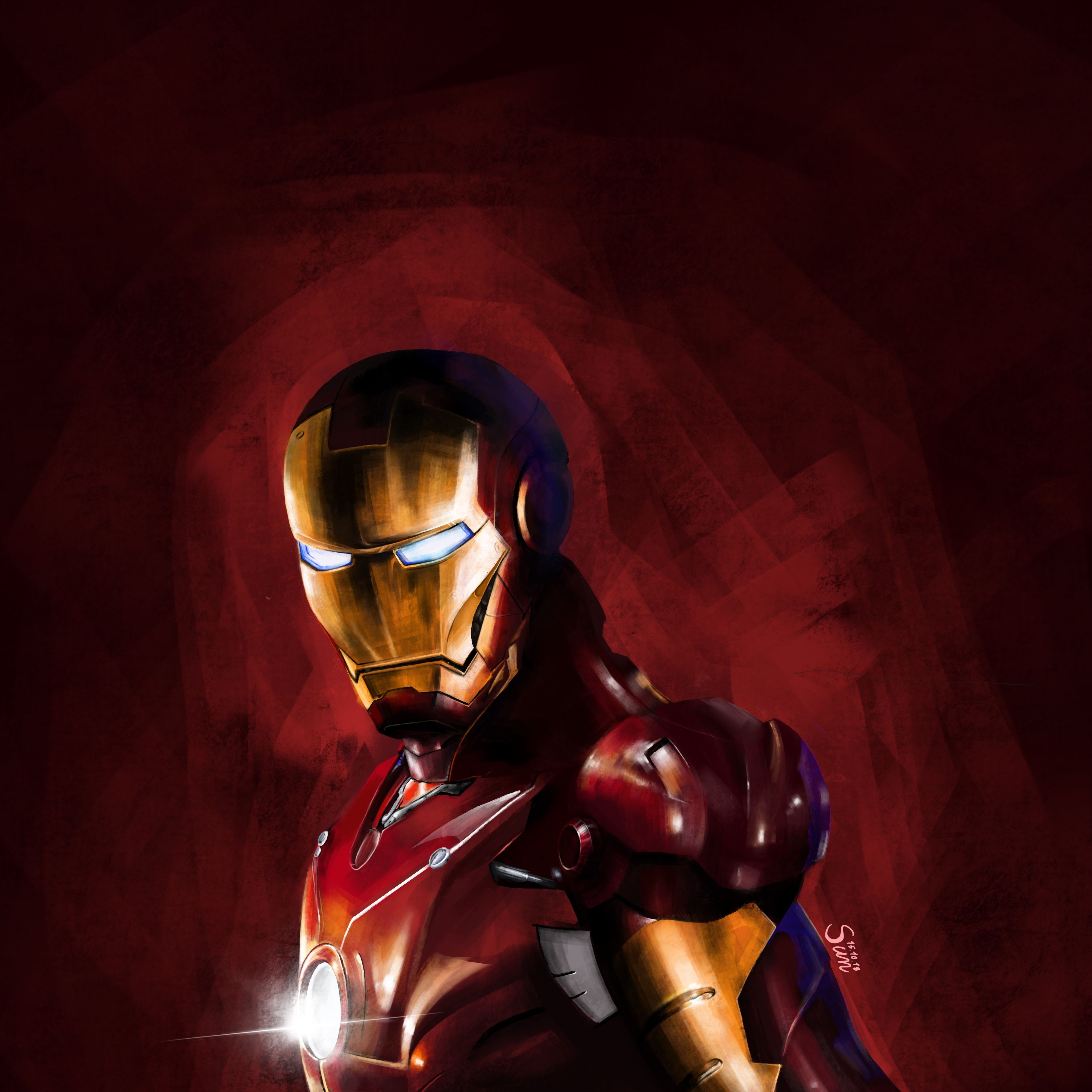 Ironman Digital Drawing Digital Painting Ipad Pro Apple Pencil Iron Man Digital Drawing Colorful Paintings