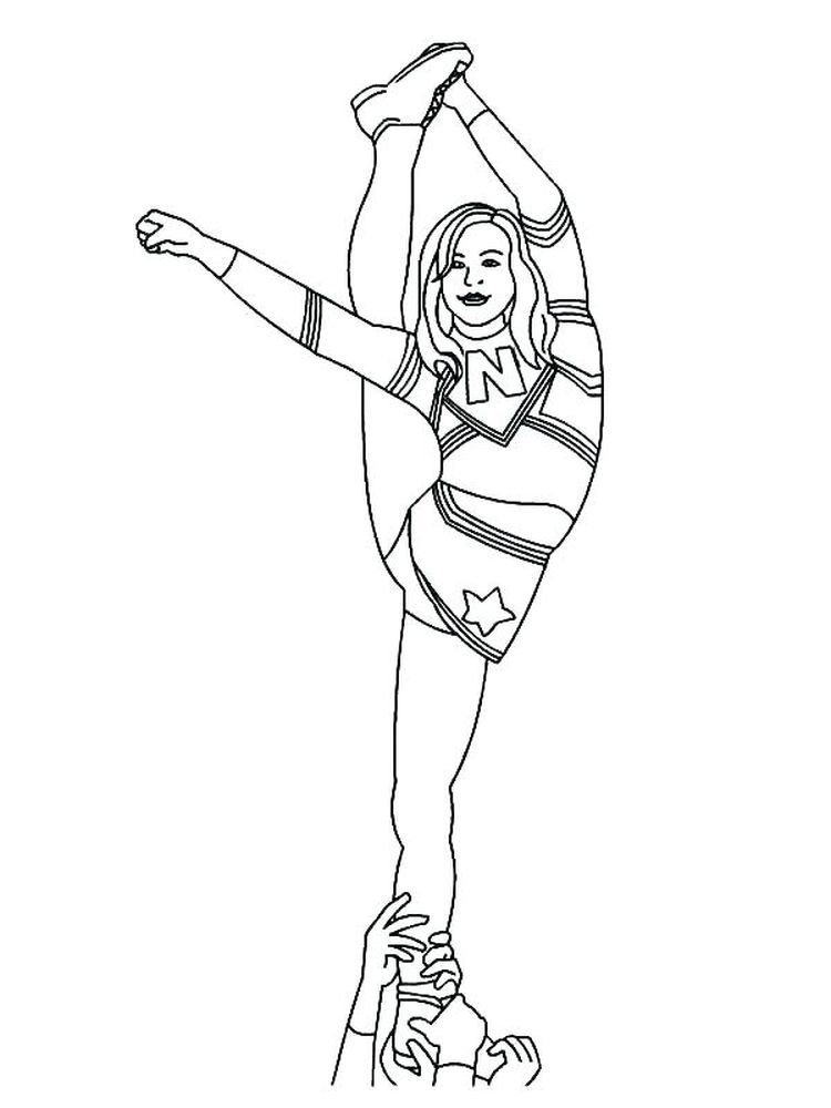 Cheerleader Coloring Pages Online Cheerleader Is A Group Of