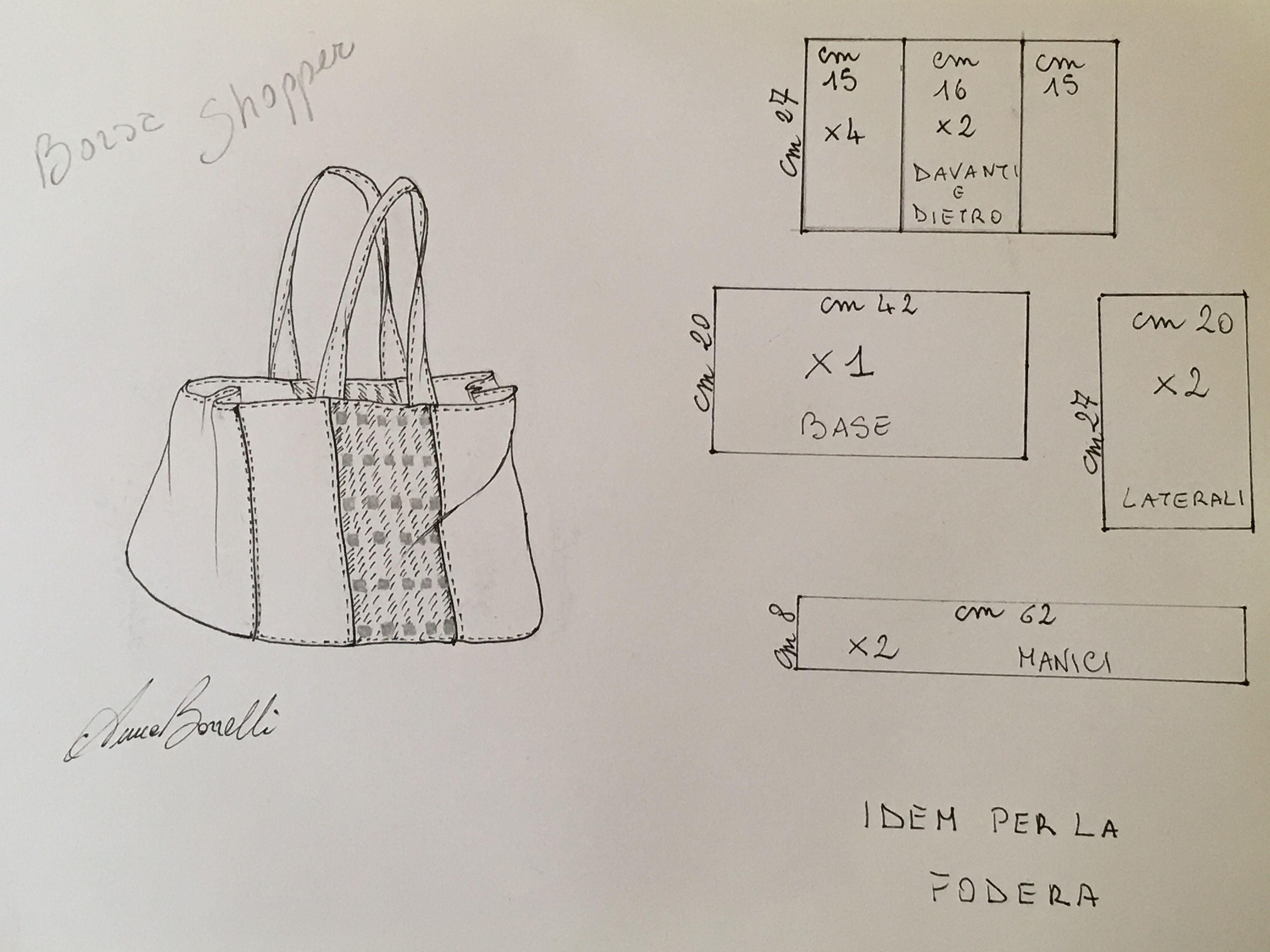 c3027ca070 Come realizzare la borsa shopper - Anna Borrelli | sac couture | Bag ...