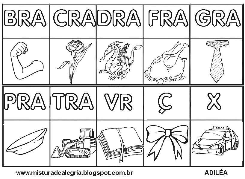 Silabario Para Alfabetizacao Silabas Complexas Silabas