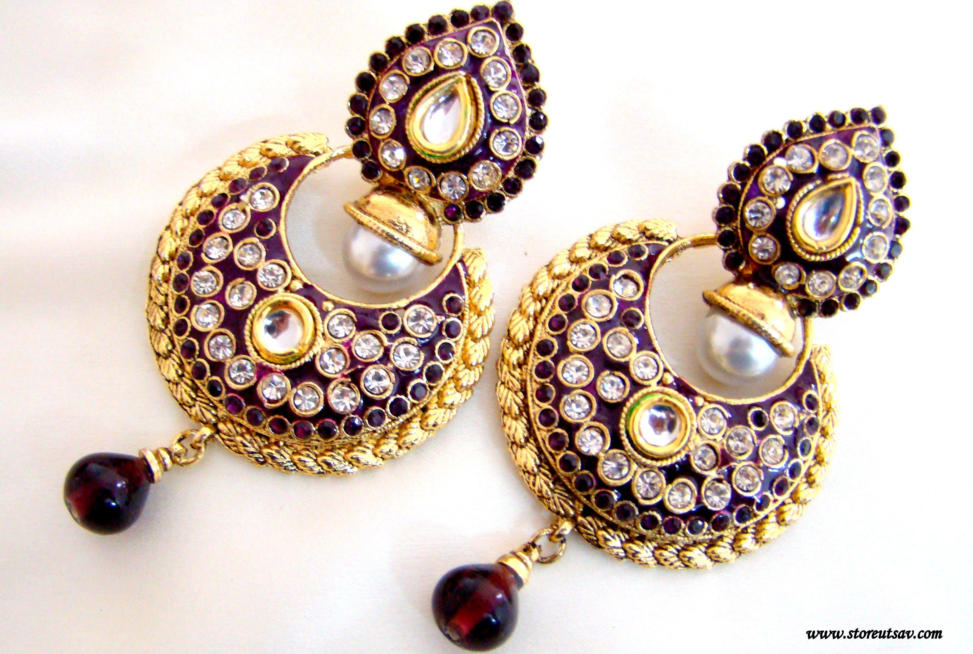 sukkhi cz chandelier shopping rajasthani buy peacock online oxidize plated studded earrings